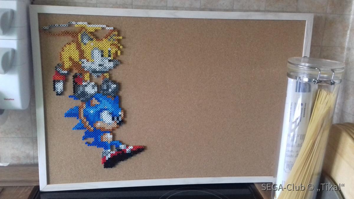 Sonic & Tails Pixel Pinwand