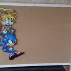 Sonic & Tails Pixel Pinwand