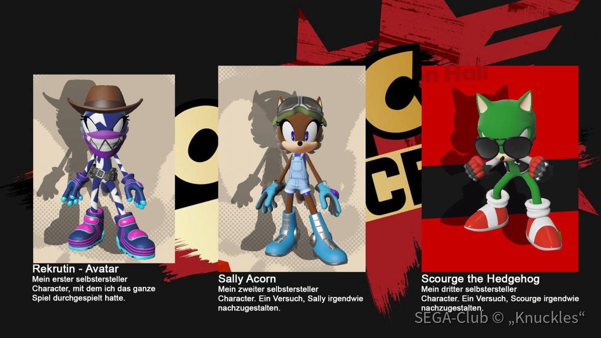 Sonic Forces - Meine Charactere
