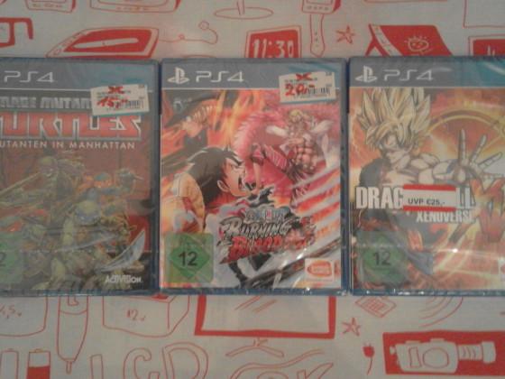 Meine 3 neuen PS4-Games