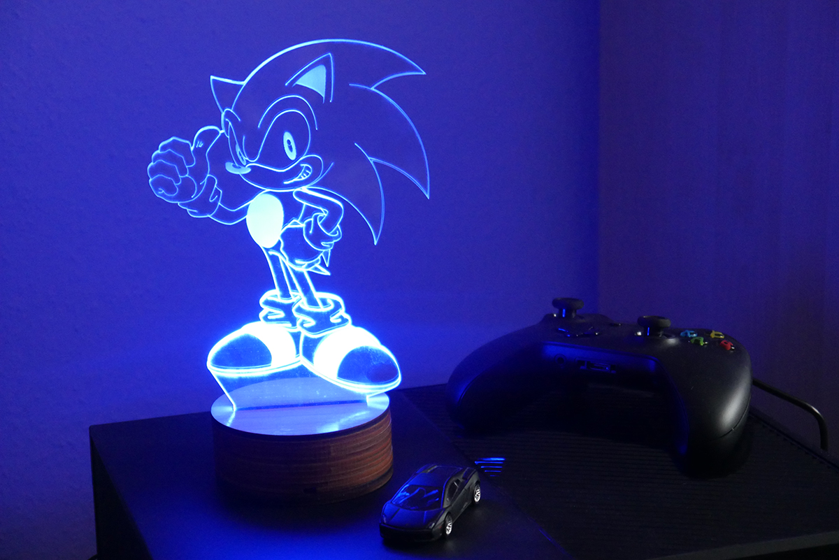 Sonic the Hedgehog LED-Lampe